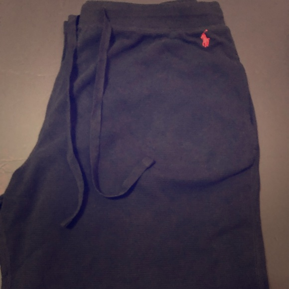 Polo by Ralph Lauren Other - Black Polo Ralph Lauren Pajama Pants Waffle Knit